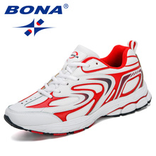 BONA  New Designers Cow Split Men Running Shoes Trendt Sports Shoes Man Popular Sneakers Outdoor Footwear Athletic Shoes