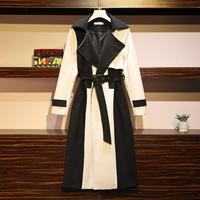 2020 большой размер женский весенний осенний Новый длинный плащ Британский стиль модный тонкий Темперамент ветровка пальто N1163