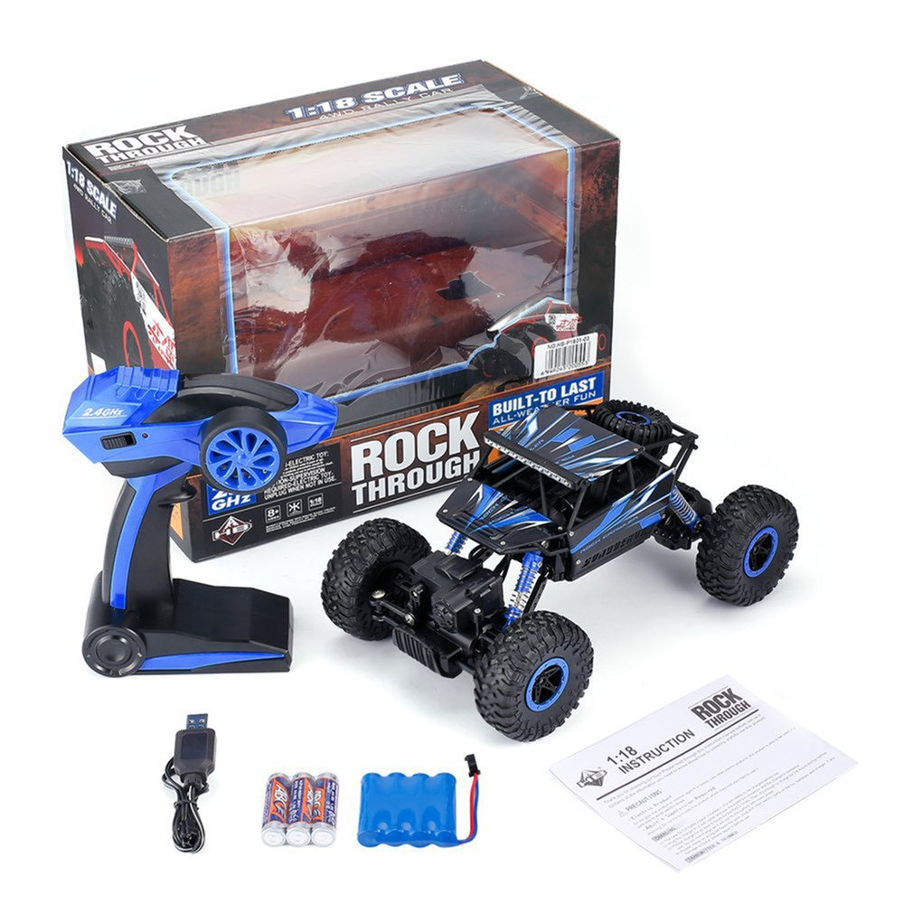OCDAY 2.4GHz RC Car 4WD Rock Crawler Rally Climbing Car 4x4 Double Motors Bigfoot Car Remote Control Model Off-Road Vehicle Toys