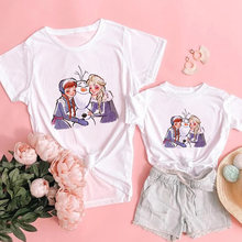 Летняя модная семейная Одинаковая одежда «Холодное сердце ii»