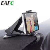 Soporte Universal de teléfono para coche, soporte de teléfono para tablero de navegación GPS, pinza de teléfono móvil, Sostenedor plegable