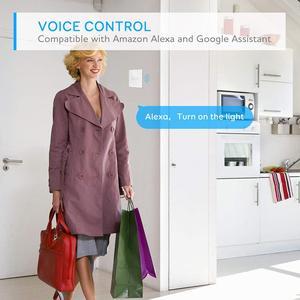 Image 2 - Tuya commutateur intelligent Wifi interrupteur mural maison intelligente IP64 panneau lumineux en verre interrupteur vie intelligente APP télécommande Alexa commande vocale