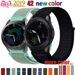 20 22 мм Смотреть ремешок для samsung Шестерни s3 Frontier классический s2 galaxy watch 46 мм 42 мм спорт нейлон amazfit bip huawei watch gt strap