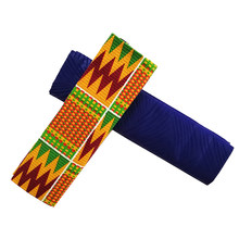 African Ankara Fabrics 2+2Yards 2019 Veritable Real Wax Embossing Polyester Wax Ghana Kente Fabric Tissu Africain For Sewing(China)
