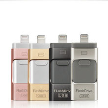 OTG USB Flash Drive Logam Flashdisk HD Memori 8G 16G 32G 64G 128G Flash driver untuk iPhone X/8/7/7 Plus/6/6 S/5/SE ipad(China)