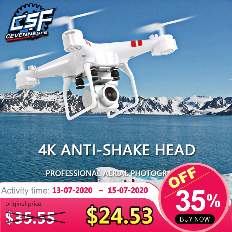 2020 New Drone 4k camera HD Wifi transmission fpv drone air pressure fixed height four-axis aircraft rc helicopter with camera(China)