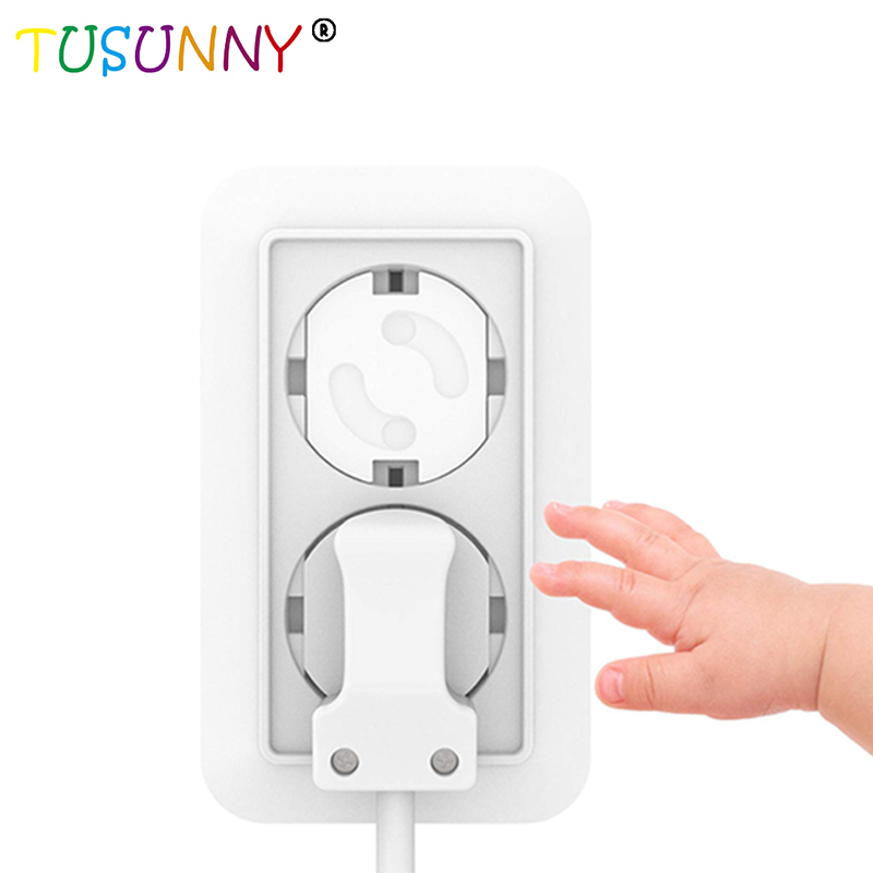 TUSUNNY 10pcs EU Power  Electrical Outlet Baby Kids Child Safety Guard Protection Plugs For Socket Anti Electric Shock Protector