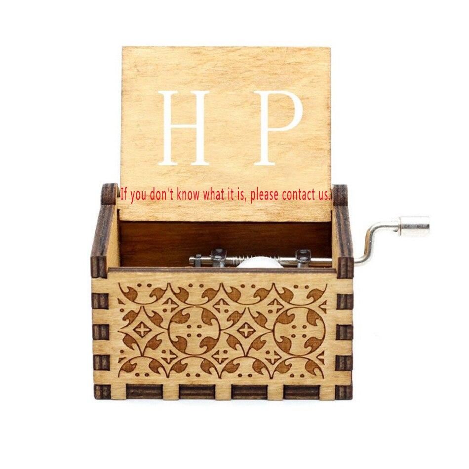 Старинная резная музыкальная шкатулка королева Кривошип Сейлор Мун деревянная музыкальная шкатулка Рождественский подарок на день рождения вечерние украшения - Цвет: H.P 2