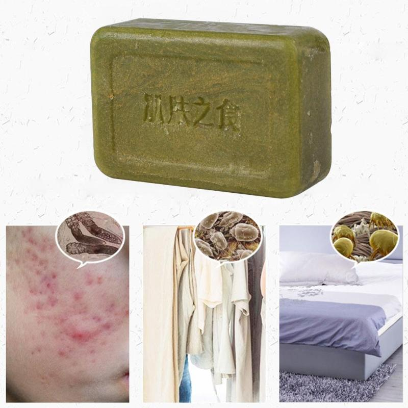 Natural Handmade Herbal Soap Anti Acne Oil Control Cleansing Soap Skin Care Body Cleaning Shower Hand Washing Soap