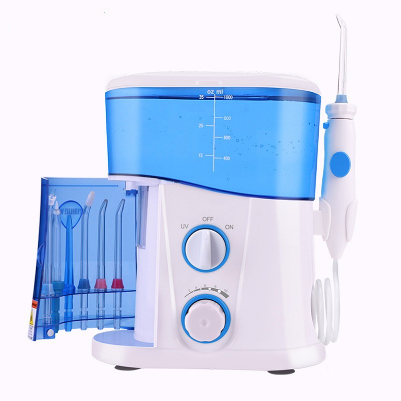 Nicefeel Water Flosser Dental Oral Irrigator Teeth Cleaner Pick Spa Tooth Care Clean With 7 Multifunctional Tips For Family(China)