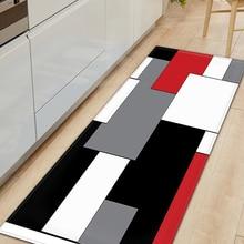 Carpet Kitchen-Mat Non-Slip-Rug Floor-Decoration Entrance-Doormat Long-Strip Bedroom
