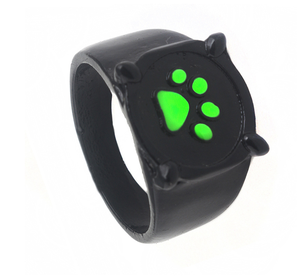 Hanreshe Anime Black Cat Rings Girl Boy Ladybug Cartoon Green Enamel Love Ring Paw Print Trendy Jewelry Party Kids Rings Gift
