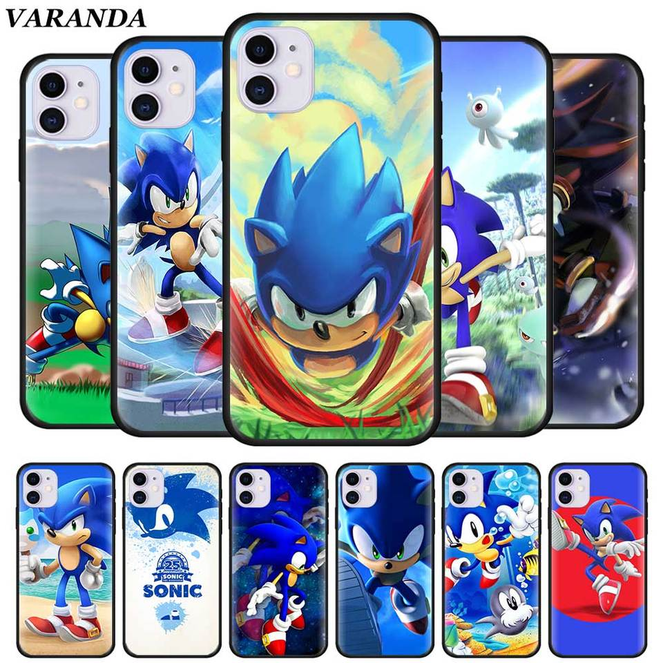 Sonic The Hedgehog Cases For Iphone 11 Pro X Xr Xs Max 7 8 6 6s Plus 5 5s Se 5c Black Silicone Soft Cover Fall Fitted Cases Aliexpress
