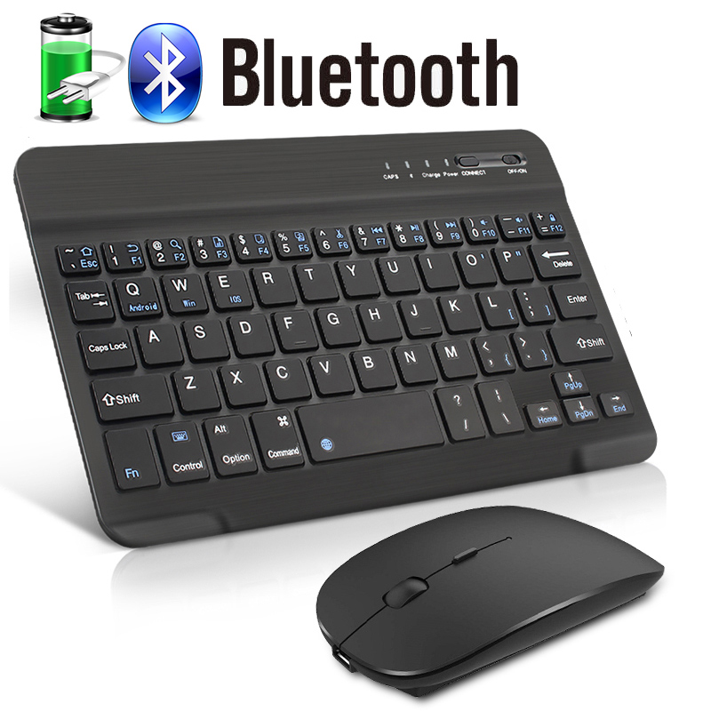 Wireless Keyboard Mouse Bluetooth Keyboard with Mouse for Phone Laptop Mini Spainsh  Russian Keyboard Mouse Set Noiseless Mice|Keyboard Mouse Combos|   - AliExpress