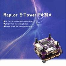 Flycolor Raptor S-TOWER Flytower F4 Контроллер полета Встроенный OSD 20A 4в1 ESC