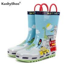 KushyShoo dziecięce Kalosze wodoodporne piękne miasto Kalosze dziecięce buty wodne Kalosze Dla Dzieci maluch dziewczyna buty