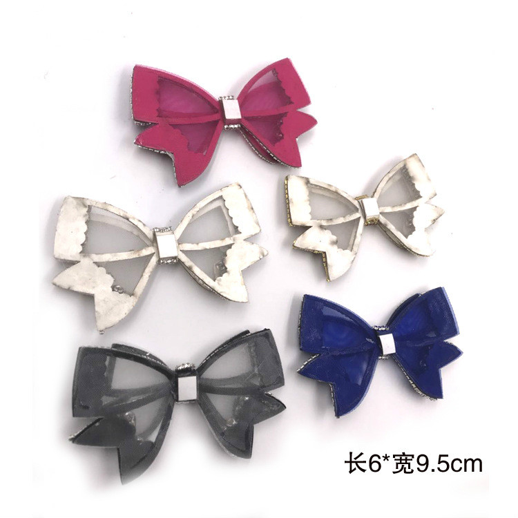 Hot Selling DIY Korean Version Mesh Butterfly Knot Rhinestone Shoes Flower Clothing Accessories Rhinestone Snow Boots