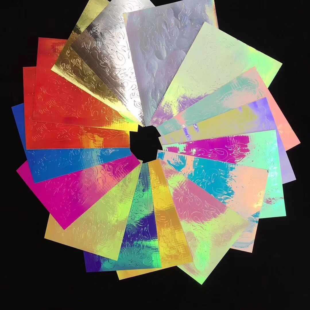 المجسم ليزر النار لهب مسمار ملصقا Vinyls الاستنسل ملصقا جوفاء النار على مانيكير استنسل ملصقا مسمار الفن الديكور