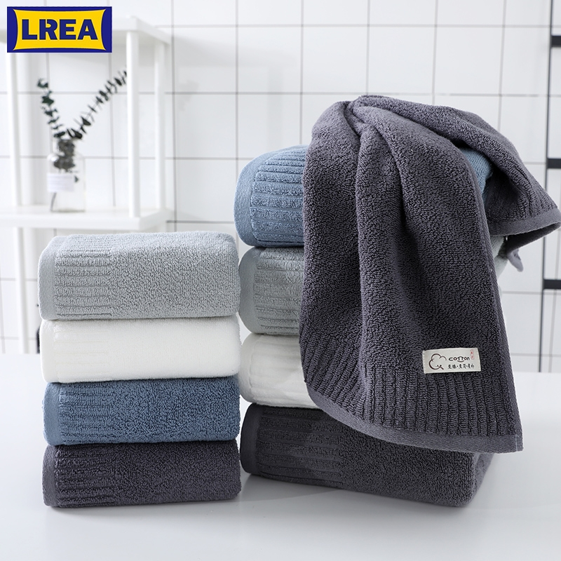 LREA 1pc FASHION Pure and fresh style face towel 100% cotton material Soft and comfortable Protect your skin 34x71cm|Face Towels| |  - title=