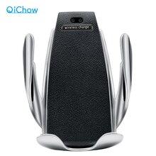 Qi Беспроводное зарядное устройство для телефона S5 автоматическое зажимное устройство для быстрой зарядки держатель для телефона креплени...