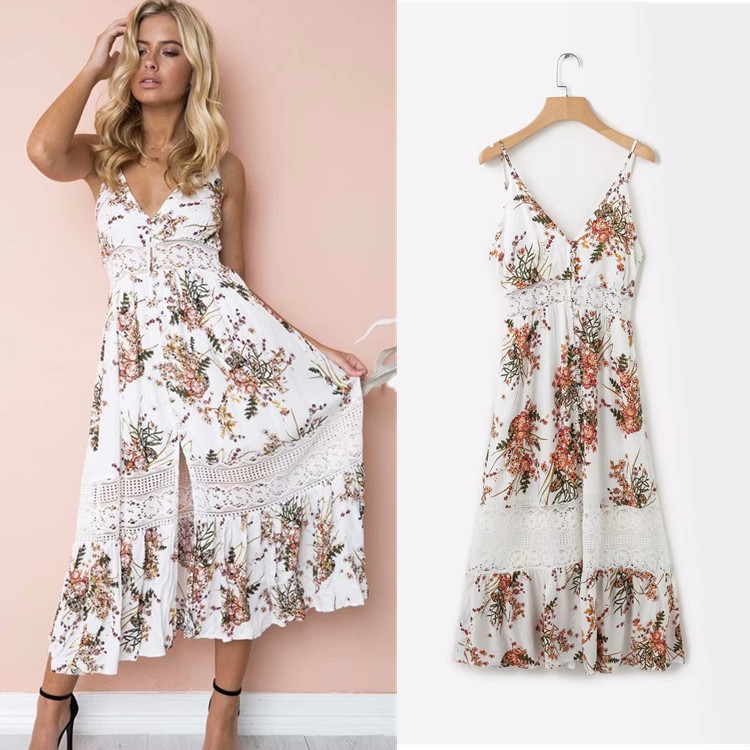 WOMEN'S Dress Western Style Sexy Vacation Style Printed Beach One-piece Dress