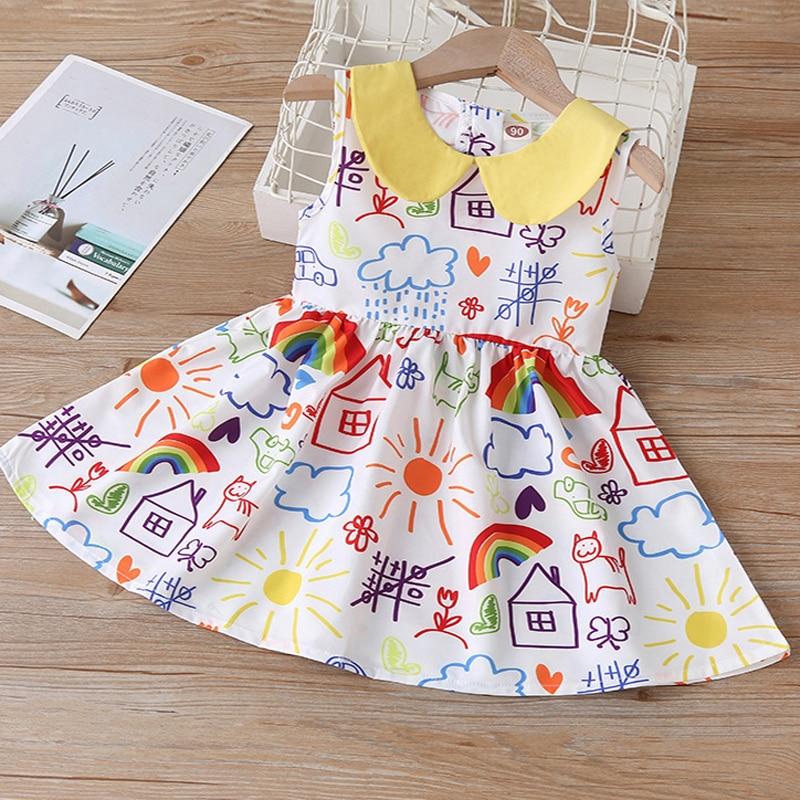 2020 New Summer Girls' Dress Korean Strap