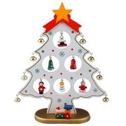 DIY ozdoba świąteczna drewniana choinka wisząca ozdoba na boże narodzenie prezent dla dzieci dekoracja stołu domowego Xmas