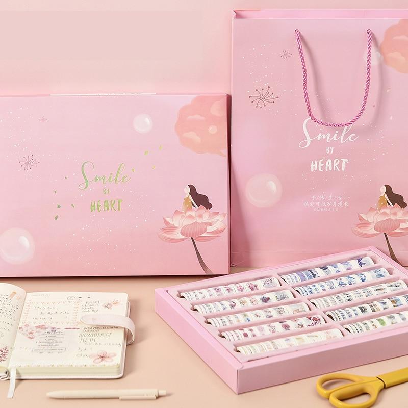 100Pcs Style Masking Washi Tape Set Gift Box Kawaii  Constellation Notebook Decorative Scrapbooking Sticker School Stationery