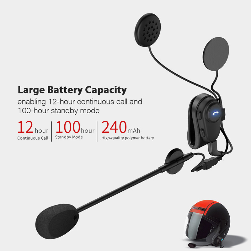 Headset Motorcycle Helmet Bluetooth Anti-Interference Free New M2 for Riding-Hands