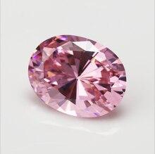 Circonita rosa sin calentar, 56,58 CT, VVS, 18x25mm, corte ovalado, AAAA, Gema suelta