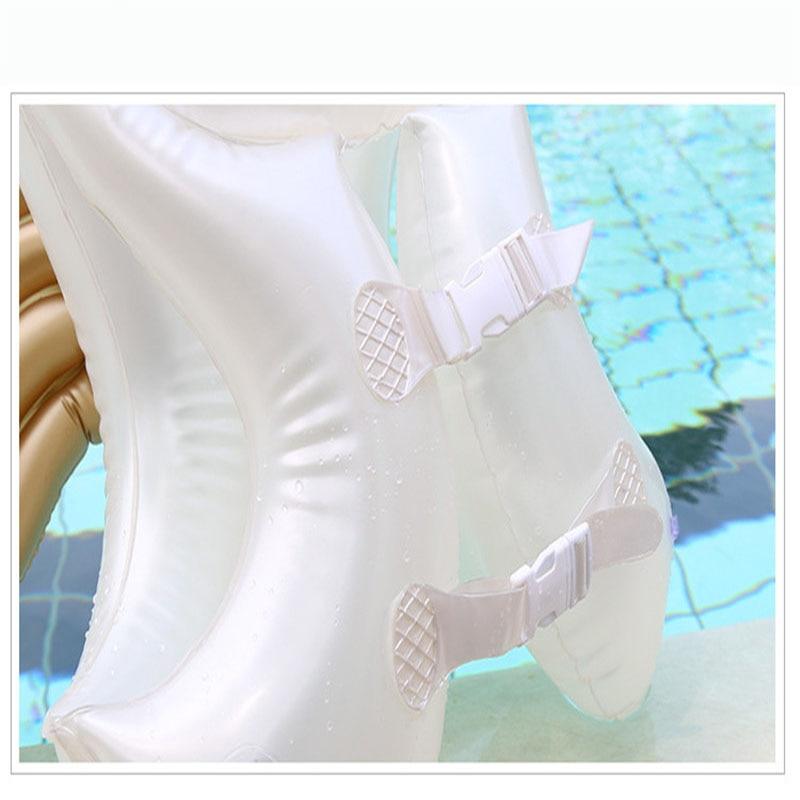 Купить с кэшбэком Children Angel Wings Inflatable Life Jacket Infant fu li yi Golden Red PVC Swimming Ring Baby Pool Plastic Pool