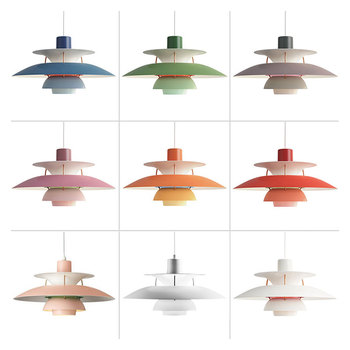 Denmark Led Pendant Light Modern Nordic Colorful Umbrella Hanging Lamp for Kitchen Bar Dining Room Lights Home Lighting Fixtures botimi colorful pendant lights for dining nordic led pendant lamp with lampshade single e27 bar light indoor hanging lamps