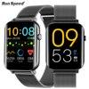 Correr velocidade relógio inteligente 1.7 Polegada hd tela de toque cheio freqüência cardíaca monitor oxigênio no sangue das mulheres dos homens smartwatch para android apple oppo 1