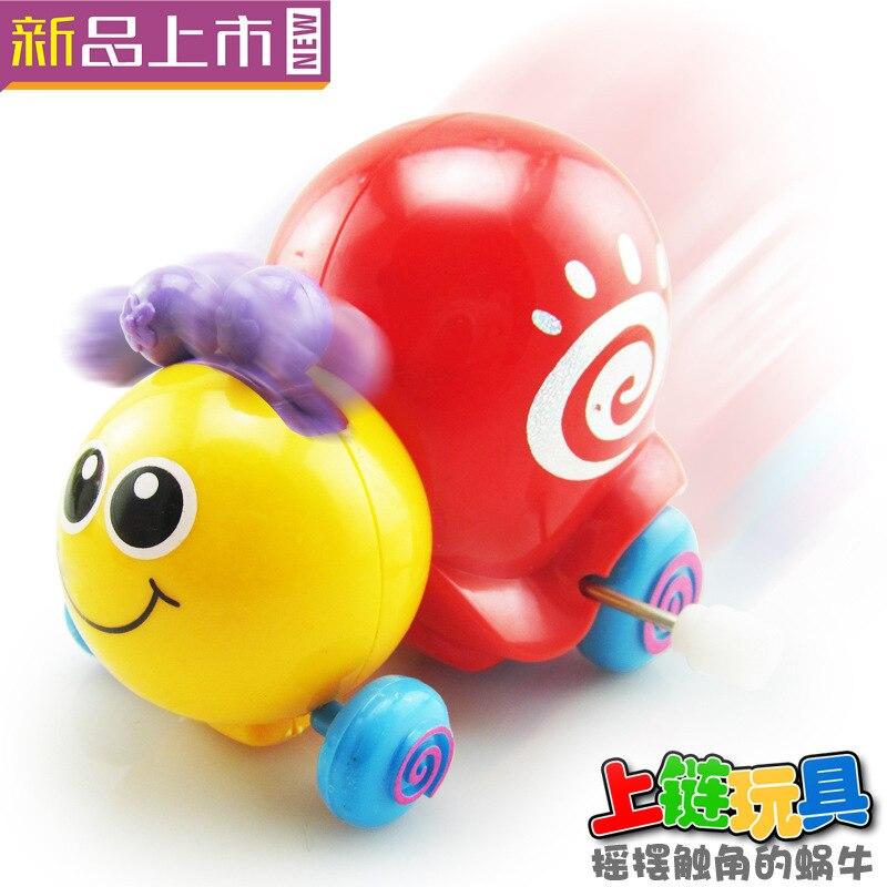 Creative Winding Snail Children Wind-up Toy Model 80 Nostalgic Gift Yiwu Stall Hot Selling Gift