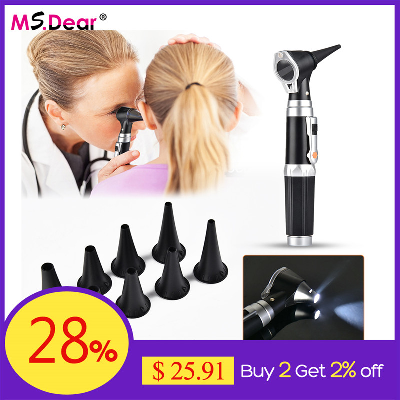 New Otoscope Diagnostic Ent Ear Care Tools Kit Medical XHL Bulb Examination Instruments Ear Cleaner Otoscopio Medico Earscope
