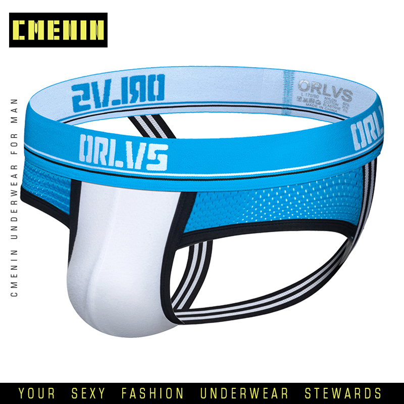Male Jockstrap Men Sexy Underwear Gay Man Thongs Mesh Bikini G-Strings Men's Thong Penis Pouch Breathable Panties OR195