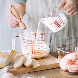 Miarka szklana strona główna narzędzia kuchenne miarka do pieczenia seria zagęszczona odporna na wysokie temperatury o dużej pojemności w Kubki i dzbanki pomiarowe od Dom i ogród na