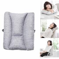 8H Lumbar Cushion Massager Soft Memory Foam Pillow Protect Lumbar For Office Car Relax Rest Massage Health Care Tool
