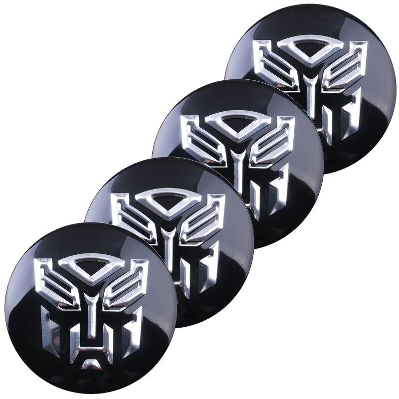 4PC 3D Car Styling Transformers Logo Wheel Hub Center Cap Emblem Sticker Metal Autobots Badge Emblem Tail Decal Car Accessories