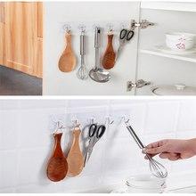 1 шт. крепкие бесшовные настенные крючки невидимые прозрачные присоски полотенце для ванной, кухни вешалка мультфильм клей крюк