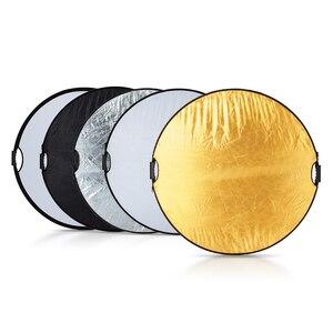 Image 2 - Selens 110CM 5 in 1 reflektör fotoğraf taşınabilir ışık reflektörü taşıma çantası ile fotoğrafçılık için fotoğraf stüdyosu aksesuarları