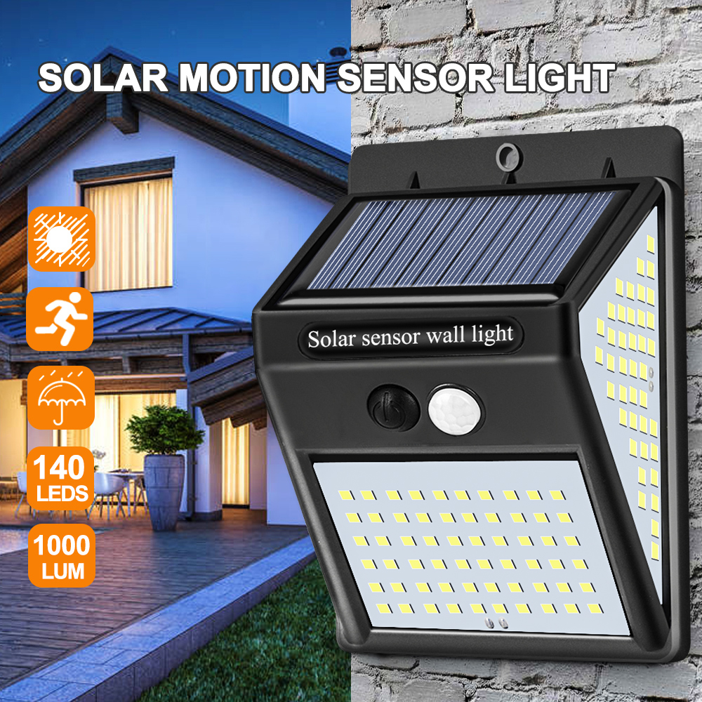 Solar Light Outdoor Solar Lamp Powered Sunlight Waterproof PIR Motion Sensor Street Light For Garden Decoration Solar Wall Light