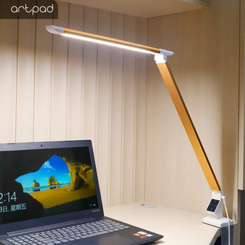Artpad 12w Clip Lamp 3 Color and 5 Levels Dimming Brightness/Color Temperature/Remote Control Table Illimination Reading Lights