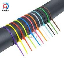 100 мм самоблокирующиеся Нейлоновые кабельные стяжки 3,94 дюйма 100 шт. 12 цветов пластиковые стяжки на молнии для связывания проводов ремни Органайзер скрепляющий кабель
