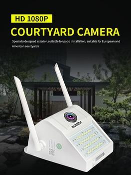 INQMEGA 1080P HD настенный светильник для улицы WiFi ip-камера беспроводная водонепроницаемая Индукционная камера для человеческого тела камера для ...