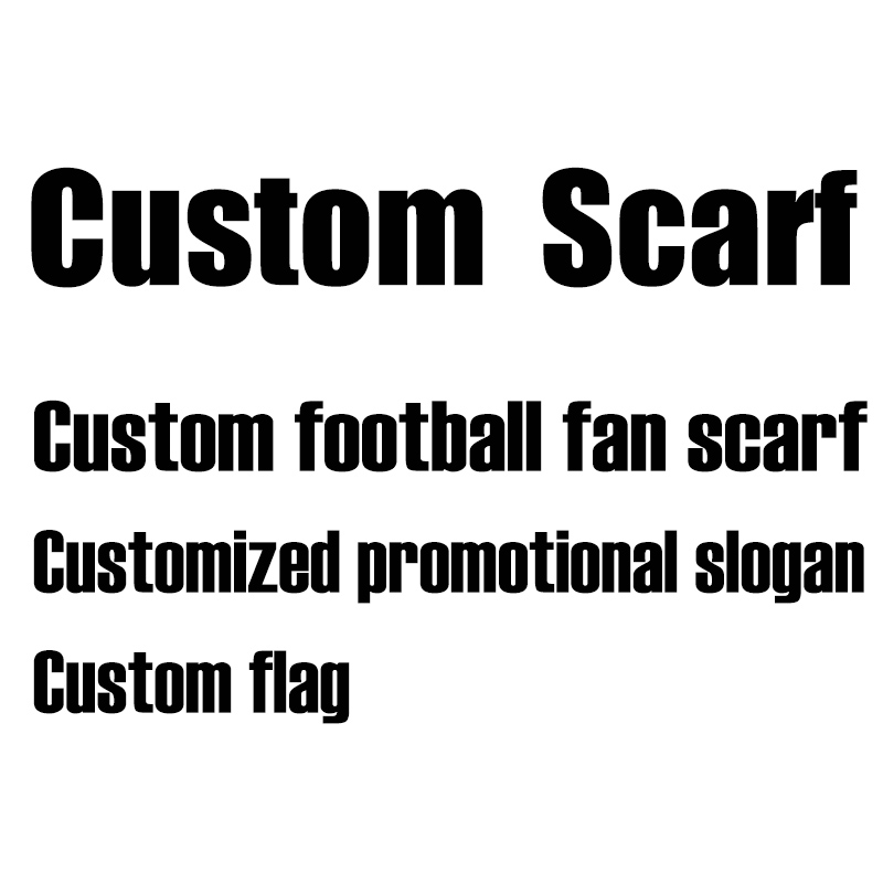 Custom Design Scarf Real Madrid Liverpool Barcelona Chelsea AC Milan Manchester Football Club Fans Cheering Scarf Knitted Fabric