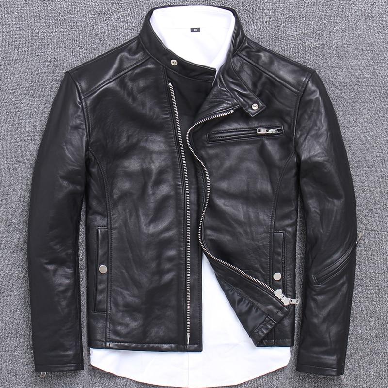 100% Genuine Leather Jacket Men Fashion Streetwear Real Sheepskin Coat Winter Cloth 2020 Motorcycle Leather Jackets 1808