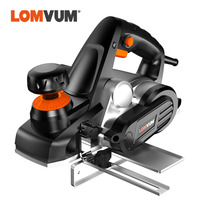 LOMVUM Electric Planer Plane Adjustable Cut Dept Hand Held Power Tool Wood Cutting With Accessories Woodworking Polishing
