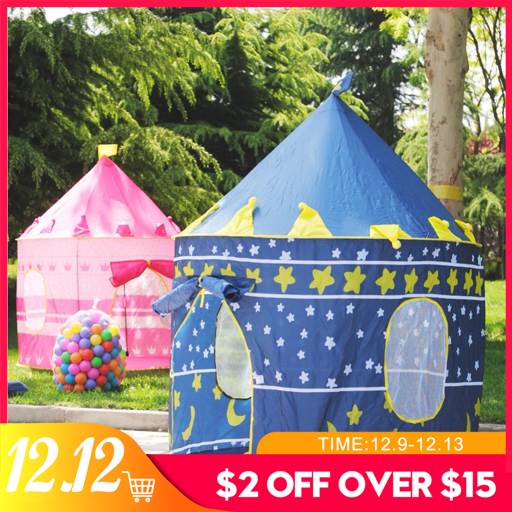 Play Tent Baby Ball Pool Tipi Tent For Kid Pink Blue Children Tent Play House 100pcs/lot Ocean Ball Toy Tents Easy Babysitter
