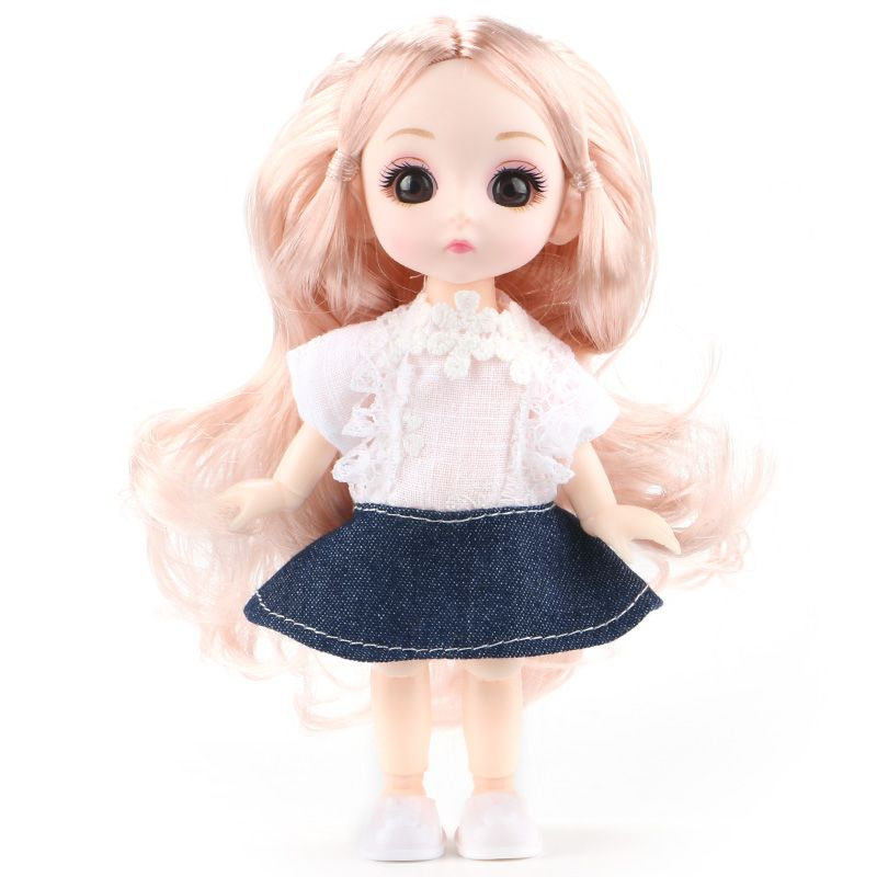 6inch Princess Girl Doll bjd Boneca Dolls normal/joint body Ball Jointed Reborn Glasses Dolls Toys Clothes Shoes Gift For Girls 10